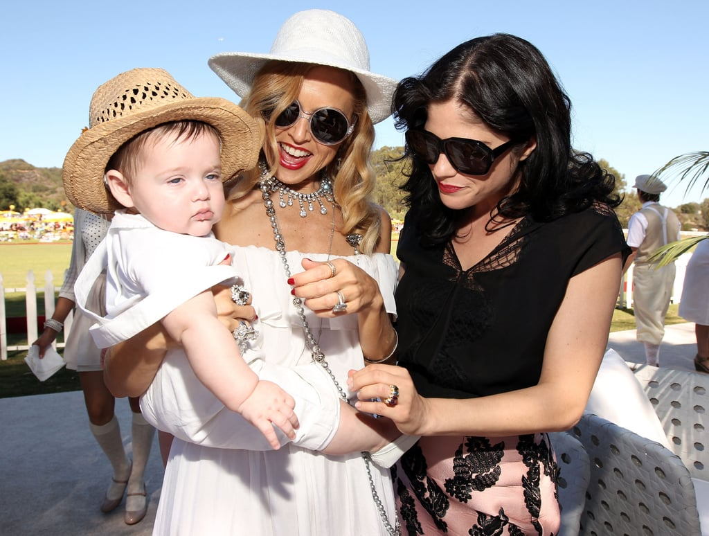 Selma Blair and Rachel Zoe tickled baby Skyler.
