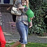 Natalie Portman and Aleph Millepied were out in Hollywood.