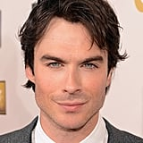 Ian Somerhalder shared a sexy smile.