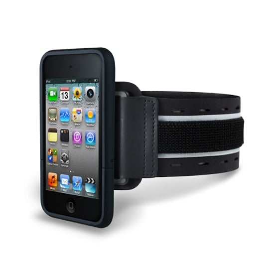 This isn't just a reflective SportShell iPhone arm band ($49) — the product also comes with three other items: a hard shell case, a belt case, and a tabletop stand case.