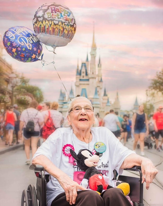 Woman Celebrates 100th Birthday At Disney World Popsugar Family