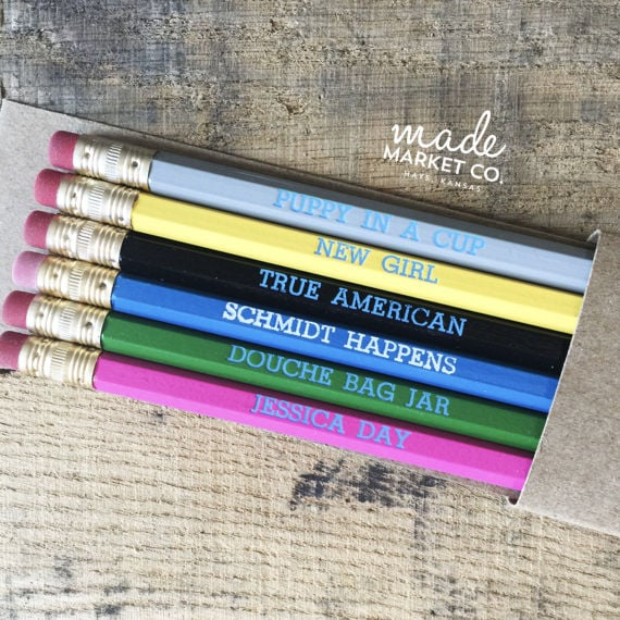 New Girl Pencil Set ($10)