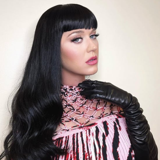Katy Perry Black Blunt Bangs and Long Hair For American Idol