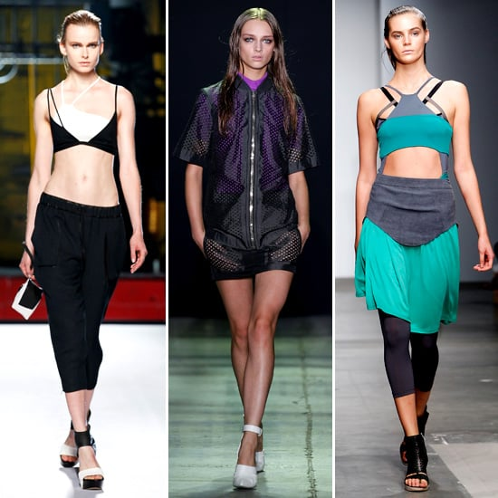 Sporty mesh and colorblock details abounded on the runways at Helmut Lang, Alexander Wang, and VPL.