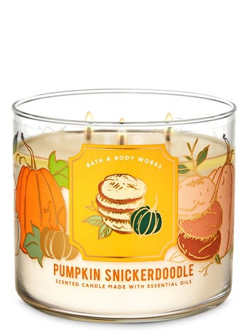Bath & Body Works Pumpkin Snickerdoodle 3-Wick Candle