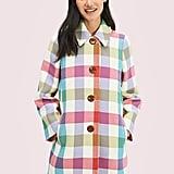 Kate Spade NY Bold Plaid Coat