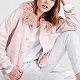 Lou & Grey Miguel Jacket With Faux Shearling Collar