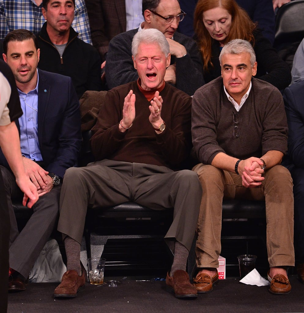 Former President Bill Clinton got in the zone during a Oklahoma City Thunder vs. Brooklyn Nets game in January.