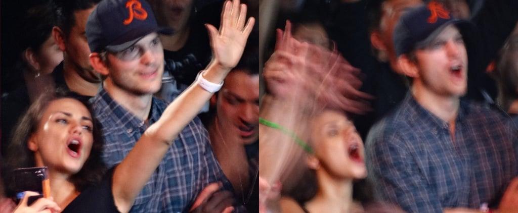 Mila Kunis and Ashton Kutcher Go Crazy in the Crowd at Madonna's LA Concert