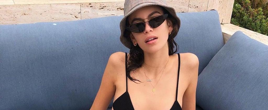 Kaia Gerber's Black String Bikini