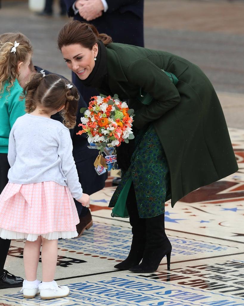 Kate Middleton Michael Kors Peacock Dress