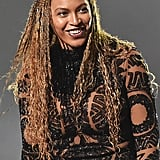 Beyoncé Knowles With Golden Braids