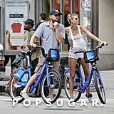 Leonardo DiCaprio and Kelly Rohrbach Riding Bikes PDA