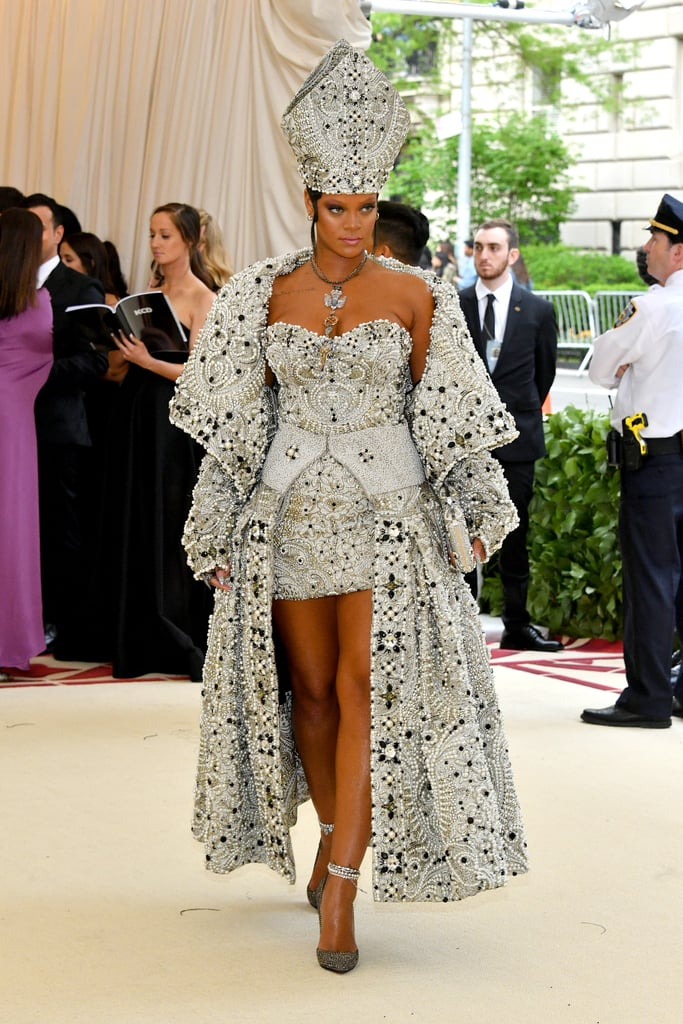 rihanna margiela met gala dress 2018  popsugar fashion