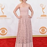 January Jones stepped out for the 2013 Emmys.