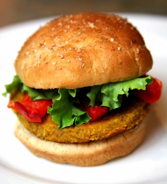 Spicy Chickpea Barley and Quinoa Veggie Burgers
