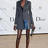Alek Wek wore Dior at the American Ballet Theatre's Opening Night Gala in New York. Source: Will Ragozzno/BFAnyc.com