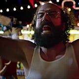 Remember Brett Gelman's Murray Bauman? The conspiracy theorist from season two who briefly shelters Jonathan and Nancy? Well, he's back! And apparently he's trying to cause a ruckus at the Fun Fair. (Maybe he knows about the Upside Down disease, and he's trying to warn people?)