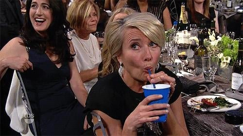 Which She Later Avoided at the SAGs With a Solo Cup