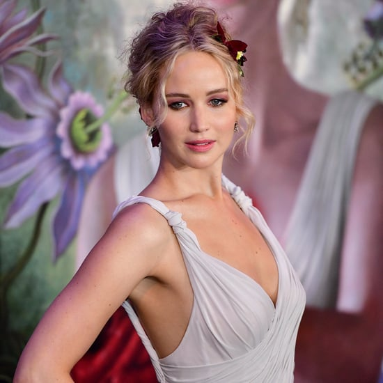 Jennifer Lawrence in White Dior Dress at Mother Premiere