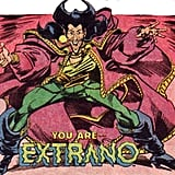 "Extraño in DC Comics DC Comics' first obviously gay character was the flamboyant Peruvian magician Extraño, who first appeared in Millennium #2 in 1988 and then in the spinoff series New Guardians. The superhero angered many by being a stereotypically jovial gay man in colorful clothing, not to mention his name is Spanish for ""strange."" New Guardians continued to be controversial by having a plot line in which several team members are infected with HIV through the scratch of the Hemo-Goblin. This misinformation about AIDS transmission plus the effeminate Extraño made the short-lived series offensive to the gay community. Source: DC Comics"