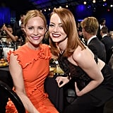 Pictured: Leslie Mann and Emma Stone