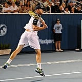 Andy Roddick playing tennis in Delray Beach.