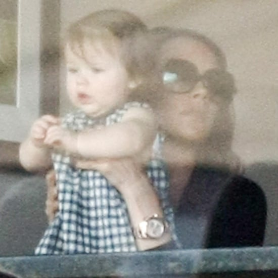Harper Beckham Pictures at LA Galaxy Game