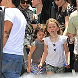 Katie Holmes and Suri Cruise after Tom Cruise's 49th birthday.