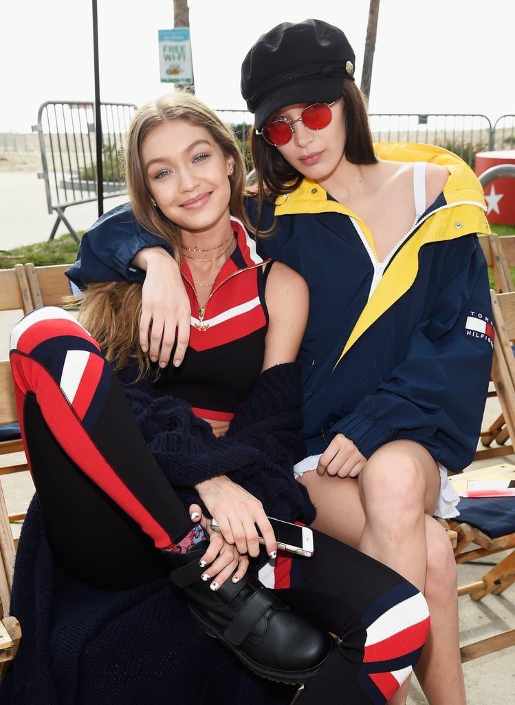 Bella supported Gigi's Spring '17 collaboration with Tommy Hilfiger by walking in the show.