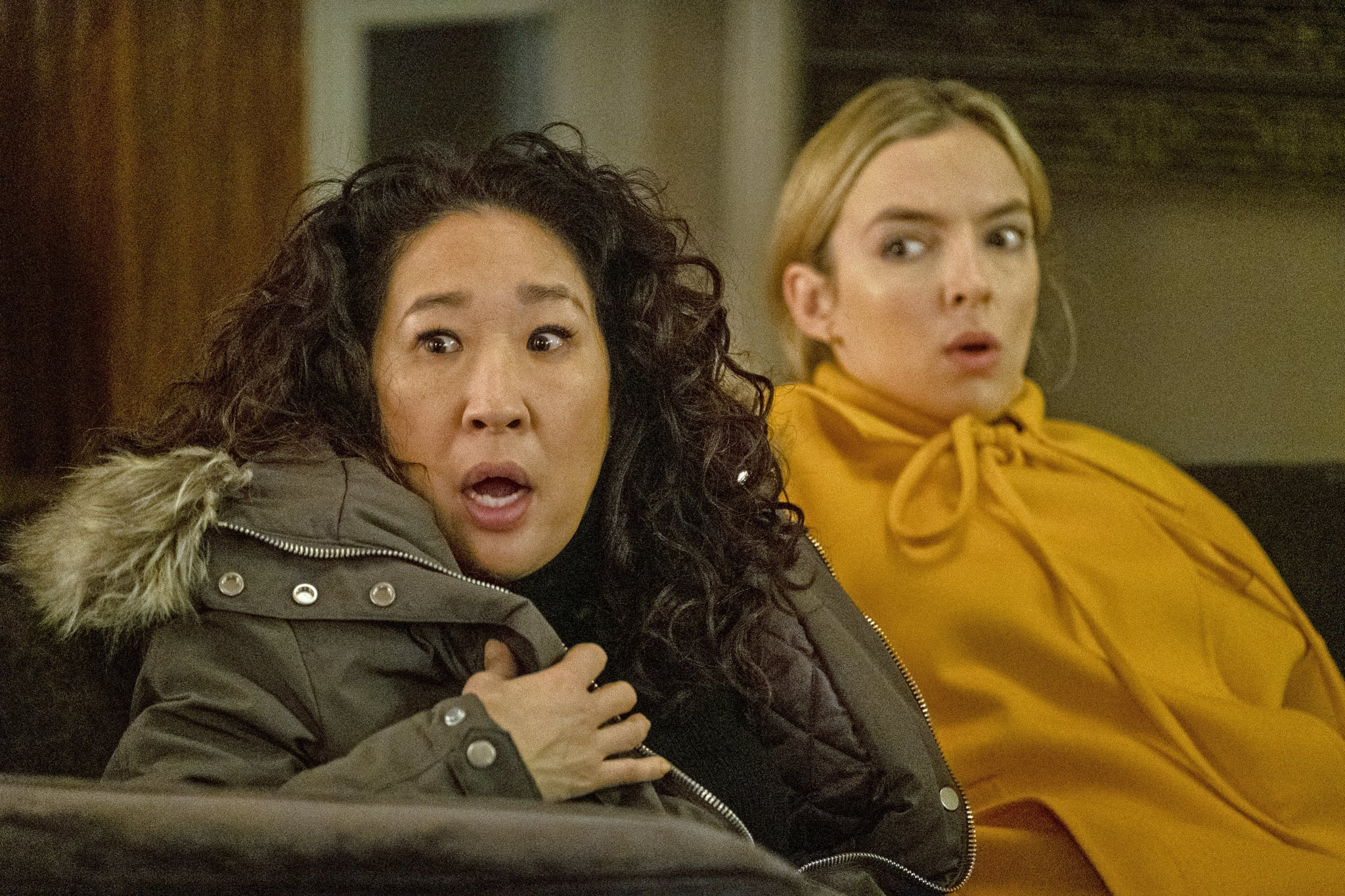 Sandra Oh as Eve Polastri, Jodie Comer as Villanelle - Killing Eve _ Season 3, Episode 8 - Photo Credit: Laura Radford/BBCAmerica/Sid Gentle