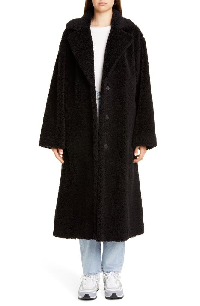 Stand Studio Maria Long Teddy Faux Fur Coat