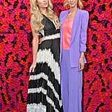 Paris Hilton and Nicky Hilton at Alice + Olivia Fall 2019