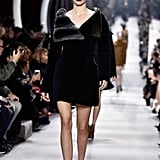 The Model Made Her Dior Debut in a Furry Collared Coat