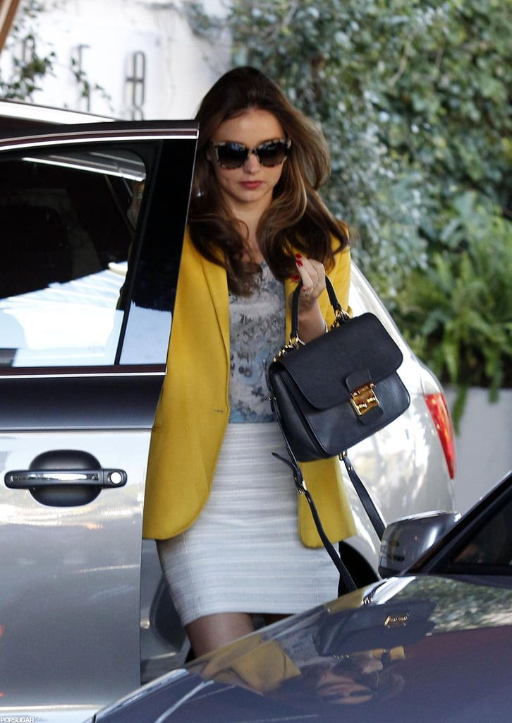 Miranda Kerr arrived at the Sunset Tower Hotel in LA.