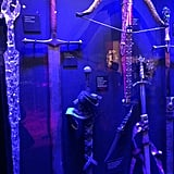 Weapons on display, including Ned Stark's sword and Joffrey's crossbow. Source: Jessica Chandra