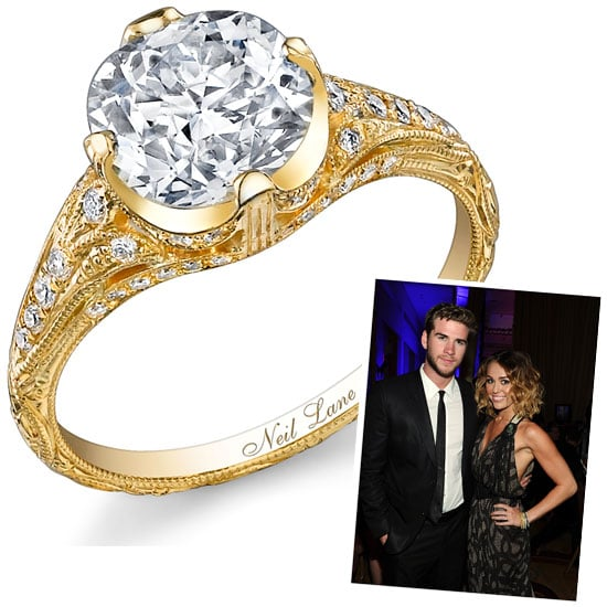 See Miley Cyrusu0027 3.2 Carat Vintage Style Neil Lane Engagement Ring: Do You  Like It Or Loathe It? | POPSUGAR Fashion Australia
