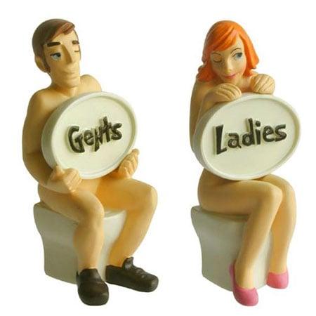 Love It or Hate It? Nudist Bathroom Door Signs