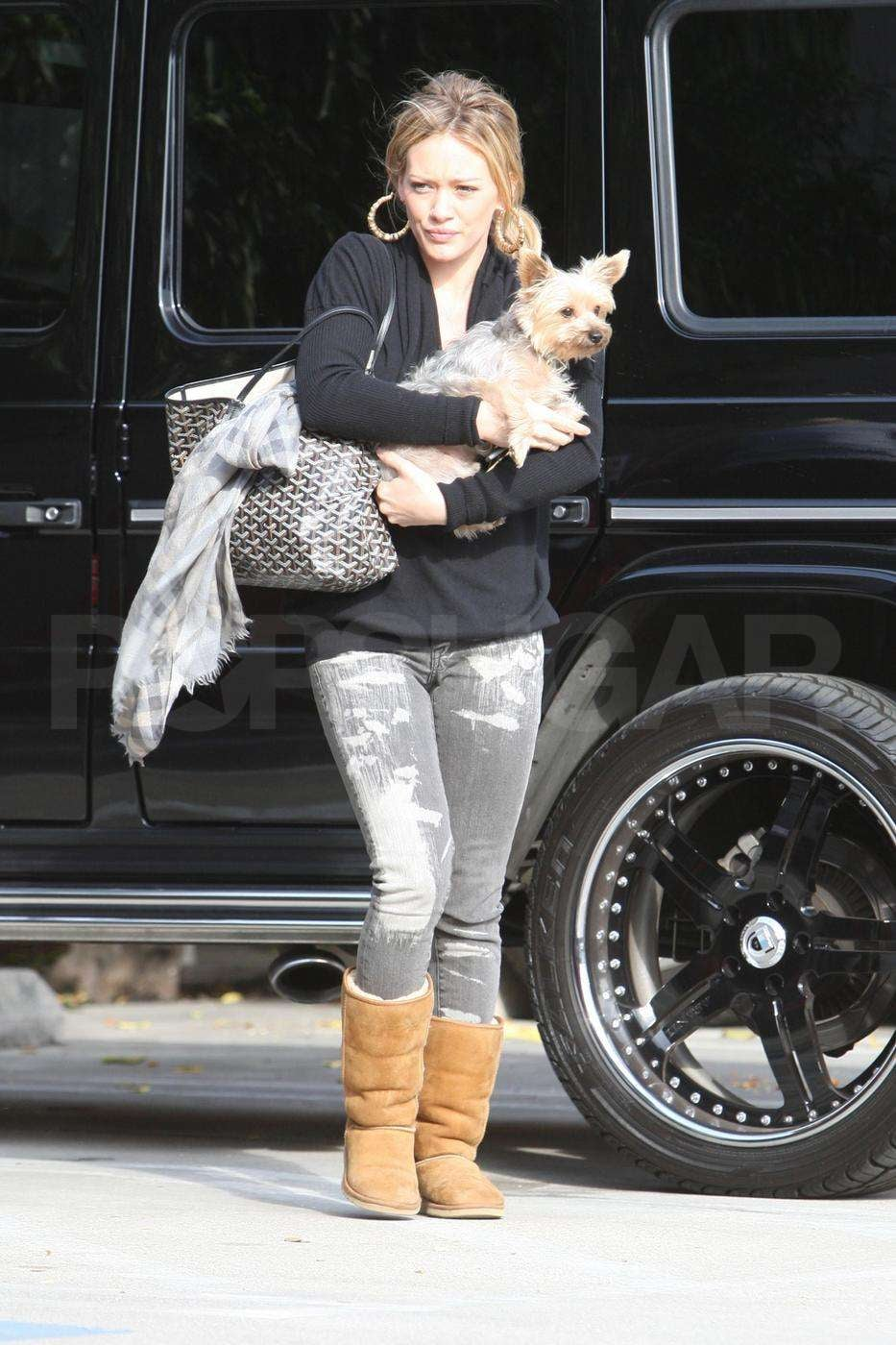 Photos Of Hilary Duff With Her Yorkie At The Veterinary