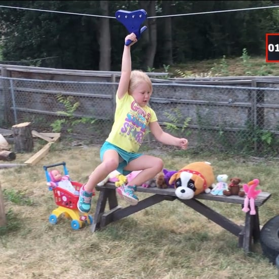 Dad Makes American Ninja Warrior Course For Daughter