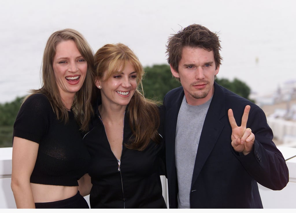 Uma Thurman and Ethan Hawke posed for photos with the late Natasha Richardson in 2001.