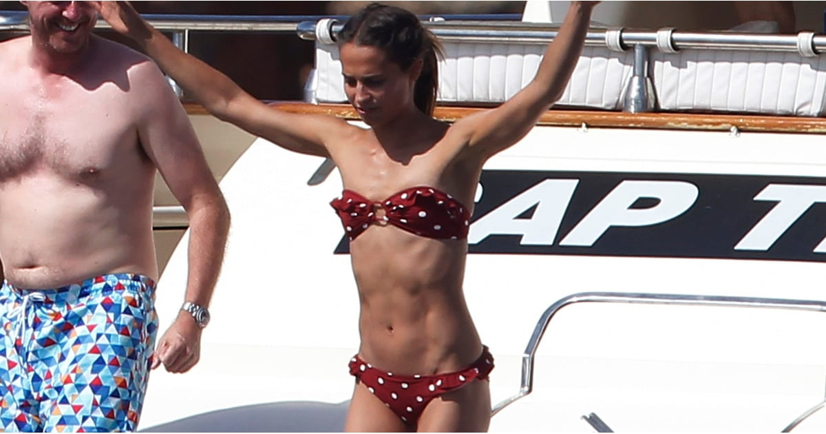 Alicia Vikander Ab Workout Popsugar Fitness