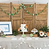 This Watercolor Safari Baby Shower Brings a New Elegance to the Jungle