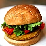 Saturday: Sweet Potato, Chickpea, and Quinoa Veggie Burger