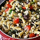 1-Pot Greek Chicken Pasta With Creamy Feta Wine Sauce
