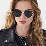 Round Half-Frame Sunglasses