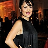 Salma Hayek wore a flapper-style dress to the British Fashion Awards in London.