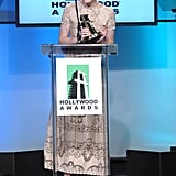 Elle Fanning accepted the Hollywood Spotlight award.