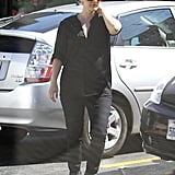 Pregnant Drew Barrymore went to lunch.