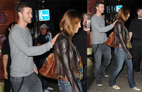 Photos of Justin Timberlake and Jessica Biel Leaving a LA Comedy Club